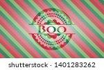 boo christmas emblem background....   Shutterstock .eps vector #1401283262