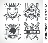 baseball badges in black and... | Shutterstock .eps vector #1401286265
