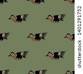 seamless geometrical animal...   Shutterstock .eps vector #1401291752
