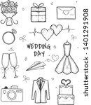 vector illustration of bridal... | Shutterstock .eps vector #1401291908