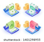 the accountant calculator ... | Shutterstock .eps vector #1401298955