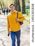 young urban man using... | Shutterstock . vector #1401301838