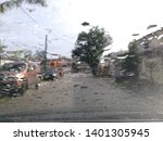blur image of rain drop from... | Shutterstock . vector #1401305945