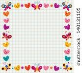 Butterflies   Hearts Border
