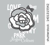 rose flower print for the girl  ... | Shutterstock .eps vector #1401315542