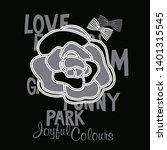 rose flower print for the girl  ... | Shutterstock .eps vector #1401315545