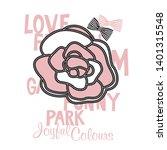 rose flower print for the girl  ... | Shutterstock .eps vector #1401315548