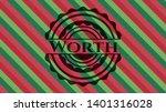 worth christmas emblem...   Shutterstock .eps vector #1401316028
