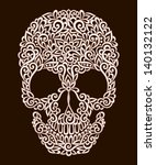 ornamental pattern skull with... | Shutterstock .eps vector #140132122