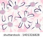 modern flower illustration... | Shutterstock .eps vector #1401326828