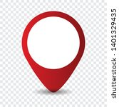 map location pointer icon on... | Shutterstock .eps vector #1401329435