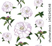 hand drawn seamless pattern of... | Shutterstock .eps vector #1401343148