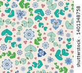 summery seamless repeat pattern ... | Shutterstock .eps vector #1401348758