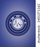 electrocardiogram icon inside... | Shutterstock .eps vector #1401371162