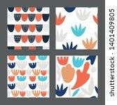 set with trendy texture... | Shutterstock .eps vector #1401409805