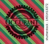 occupant christmas emblem...   Shutterstock .eps vector #1401413372
