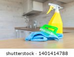 cleaning concept. tool for... | Shutterstock . vector #1401414788