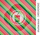 soda icon inside christmas...   Shutterstock .eps vector #1401424262