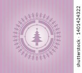 christmas tree icon inside...   Shutterstock .eps vector #1401424322