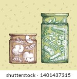 hand drawn illustration with... | Shutterstock .eps vector #1401437315