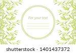 frame of leaves. botanical... | Shutterstock .eps vector #1401437372