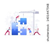 vector illustration people are... | Shutterstock .eps vector #1401447548