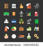 set of colored vector industry... | Shutterstock .eps vector #140145232