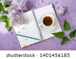 romantic  business  breakfast.... | Shutterstock . vector #1401456185