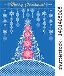 ornate blue christmas craft...   Shutterstock .eps vector #1401465065