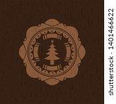 christmas tree icon inside...   Shutterstock .eps vector #1401466622