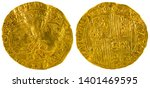 Ancient Spanish Gold Coin Of...