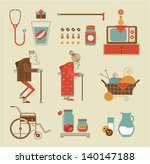 vector set of stylized granny... | Shutterstock .eps vector #140147188