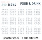 big collection of linear icons. ... | Shutterstock . vector #1401480725