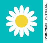 white daisy chamomile. cute...   Shutterstock .eps vector #1401481532