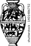 amphora are jars with narrow...   Shutterstock .eps vector #1401486752