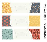 template cards or invitations.... | Shutterstock .eps vector #1401495362