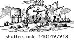 the official seal of colonial...   Shutterstock .eps vector #1401497918