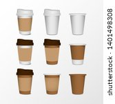 3d blank paper coffee cup...   Shutterstock .eps vector #1401498308