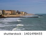 view to cadiz city  costa de la ...   Shutterstock . vector #1401498455