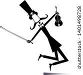 cartoon long mustache violinist ...   Shutterstock .eps vector #1401498728