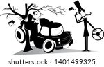 man have got into a road...   Shutterstock .eps vector #1401499325