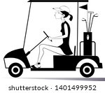 woman in the golf cart isolated ...   Shutterstock .eps vector #1401499952