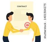 two young man handshake....   Shutterstock .eps vector #1401504275