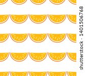 orange fruit vector seamless... | Shutterstock .eps vector #1401506768