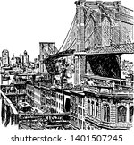 brooklyn bridge is 125 years...   Shutterstock .eps vector #1401507245