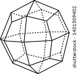a diagram of icositetrahedron...   Shutterstock .eps vector #1401509402