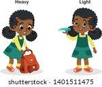 opposite heavy and light vector ... | Shutterstock .eps vector #1401511475