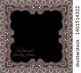 traditional paisley frame... | Shutterstock .eps vector #1401514322