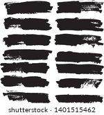 set of vector brush strokes....   Shutterstock .eps vector #1401515462