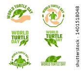 world turtle day campaign...   Shutterstock .eps vector #1401518048